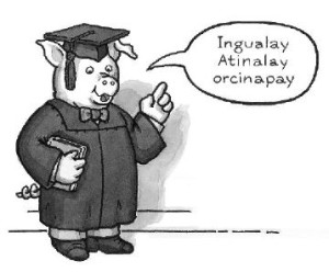 origins of pig latin